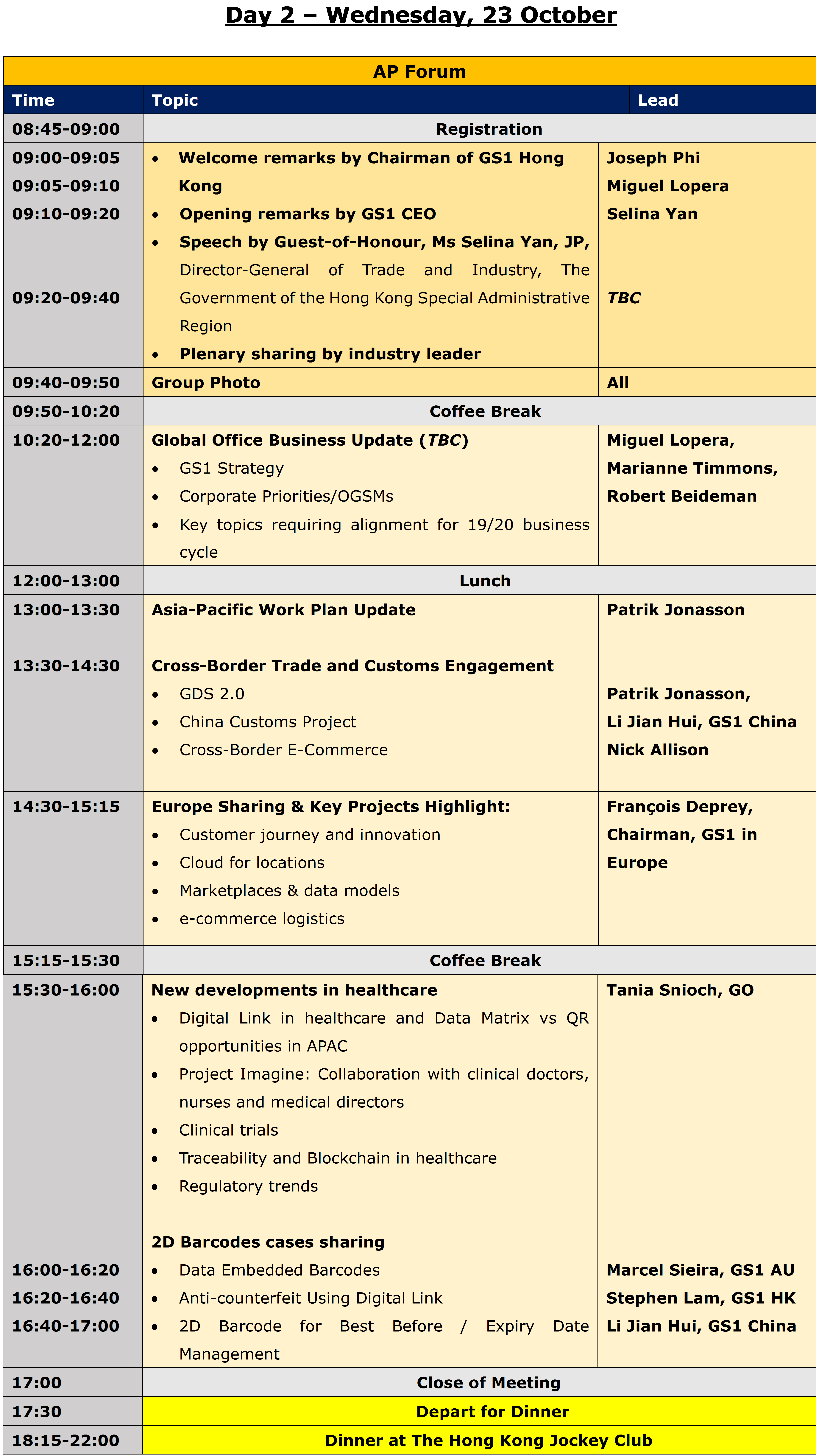 Forum full agenda day 2