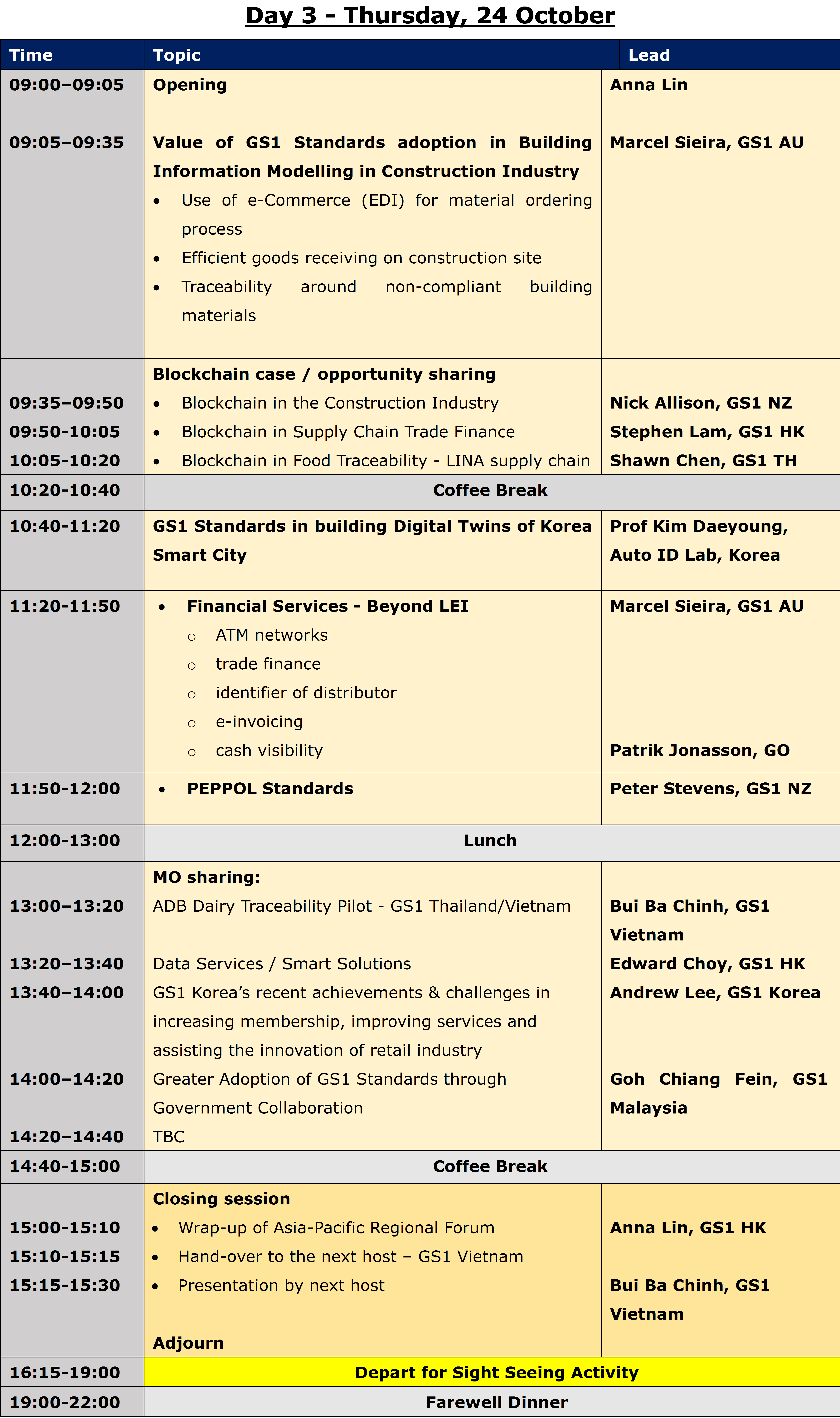Forum full agenda day 3