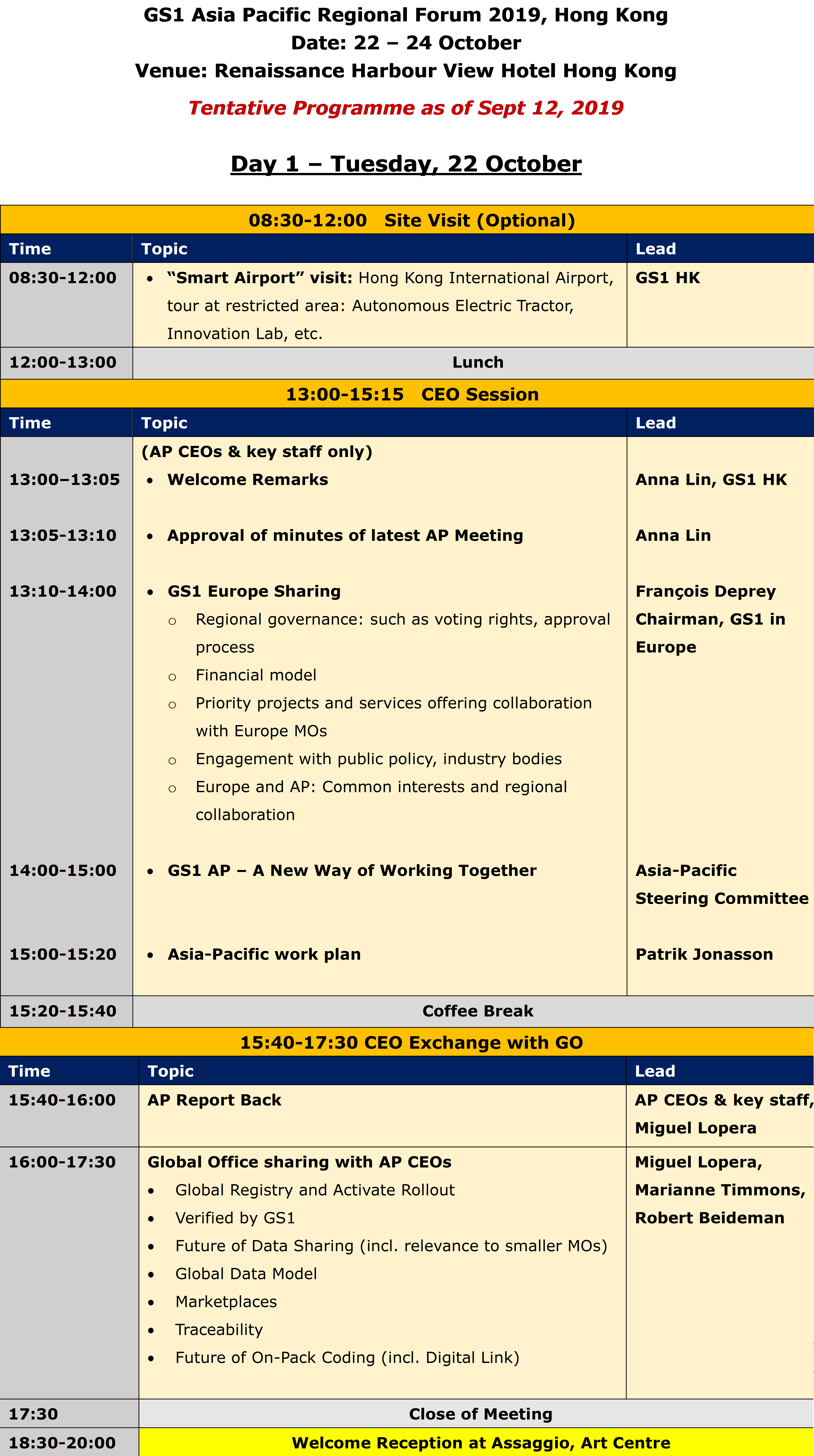 Forum full agenda day 1